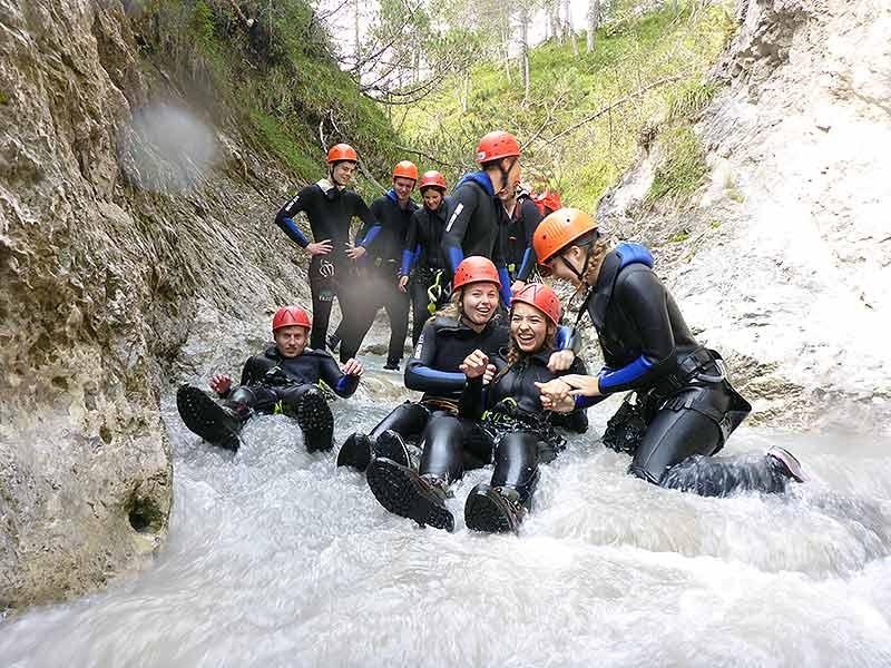 Klassenfahrt mit Rafting, Canyoning