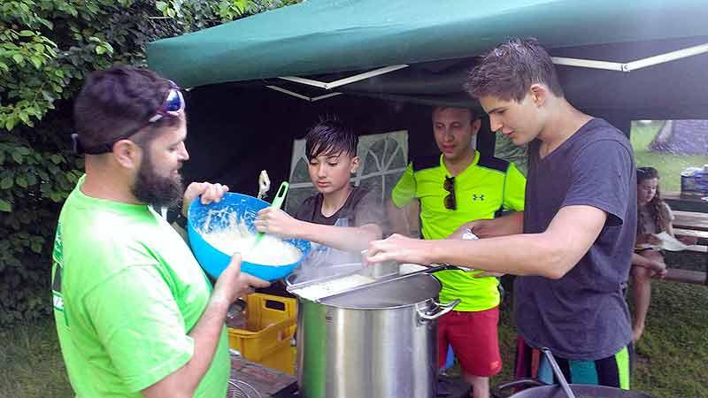 Kochen im Inselcamp