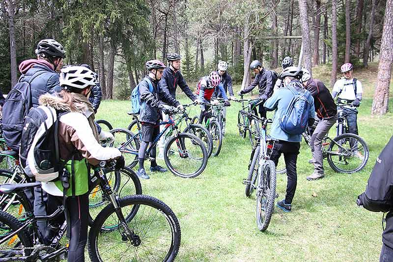 Mountainbiking mit der Schule